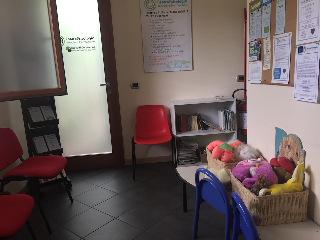 La sala d'attesa del Centro Psicologia
